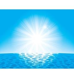 Sun over the sea vector