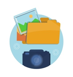 Icon of folder with pictures vector