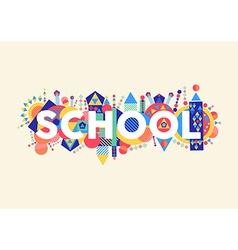 School concept vector