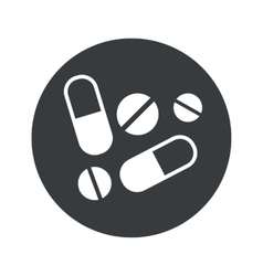Monochrome round medicine icon vector