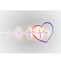 Medical symbol ekg blue heart vector