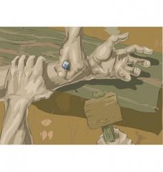 Crucifixion illustration vector