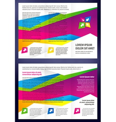 Brochure tri-fold layout design template triangles vector