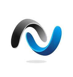 3d circle connect infinity logo vector