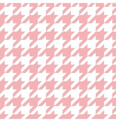 Houndstooth seamless pastel pink and white pattern vector
