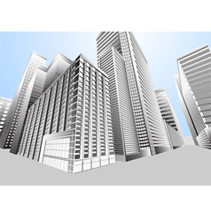 Townscape urban city vector