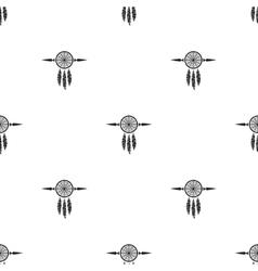 Dream catchers seamless background vector