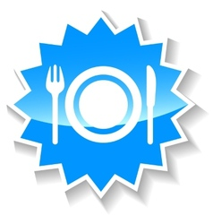 Food blue icon vector