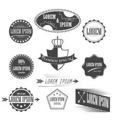 Collection of labels with retro vintage styled vector