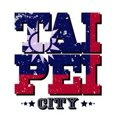 Taipei city t-shirt typography vector