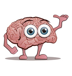 Brain character with hands and feet vector