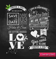 Save the date for personal holiday vintage vector
