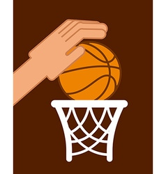 Basketball sport vector