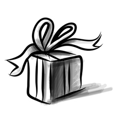 Present box cartoon doodle sketch vector
