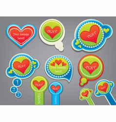 Love stickers collection vector