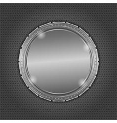 Round metal board vector