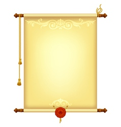 Background with old parchment vector