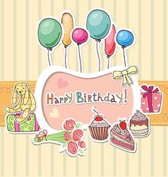 Happy birthday border vector