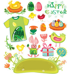 Easter holiday set vector