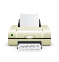White printer icon vector
