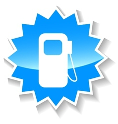 Petrol blue icon vector