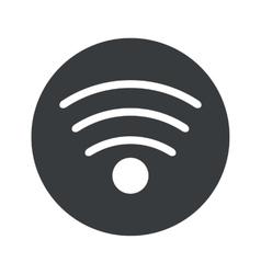 Monochrome round wi-fi icon vector