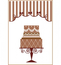 Vintage cake design vector