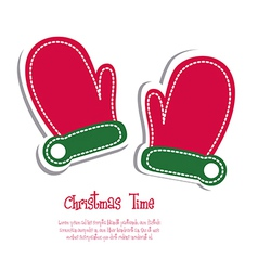 Christmas mittens vector