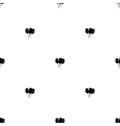 Seamless pattern black balloons vector
