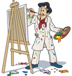 French painter vector