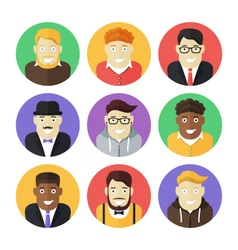 Male persons icons vector