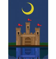 Castle under new moon vector