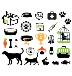 Petshop set vector