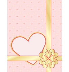 Valentines day present wrapper vector
