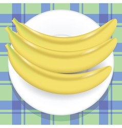 Yellow bananas vector