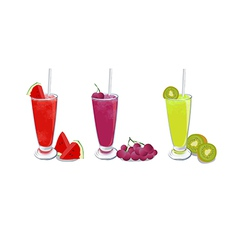 Smoothies fruit set 1 vector