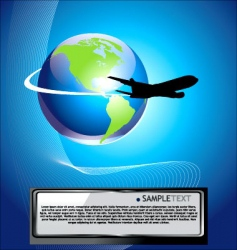 Airliner background vector