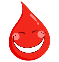 Blood guy smiling vector