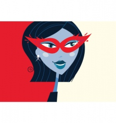 Masquerade party mask vector