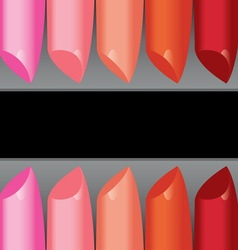 Colorful lipstick label board vector