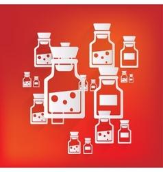 Laboratory medical flask vector