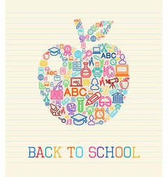 Back to school apple concept vector