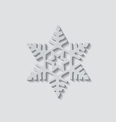 Snowflake shape icon vector