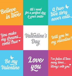 Valentines day postertypography love quote vector
