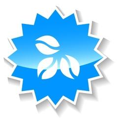 Coffe grain blue icon vector