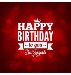 Happy birthday sign design background vector