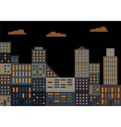 Evening city vector
