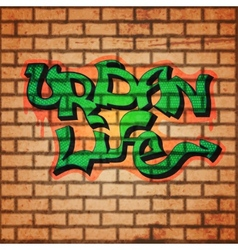 Graffiti wall background vector