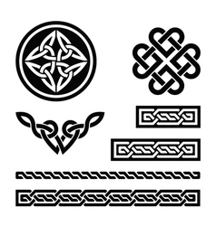 Celtic knots braids and patterns - vector