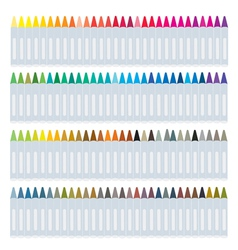 Set of wax crayons on white background vector